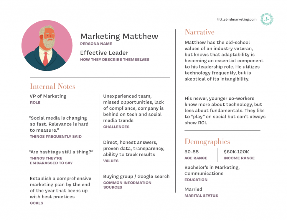 Sample Marketing persona
